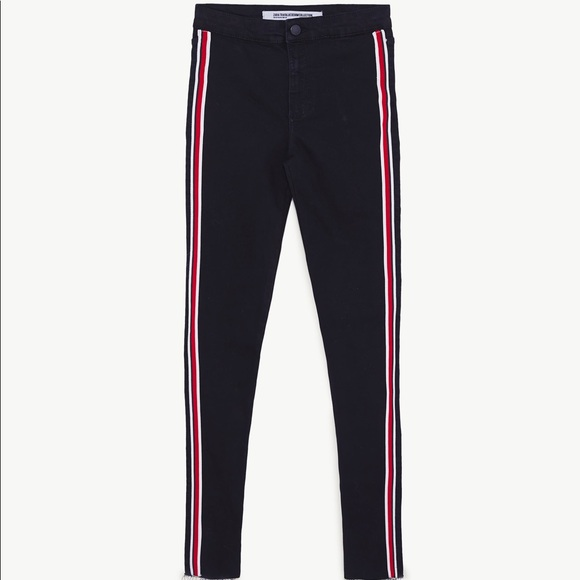 release date autumn shoes quality design Hi-Rise shaper jeggings with side stripe NWT
